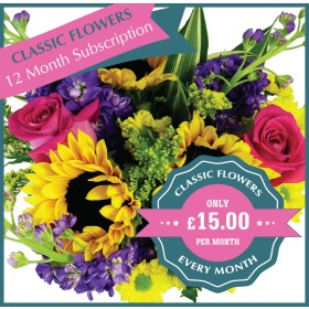 Classic Flowers - 12 Monthly Gifts