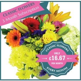 Classic Flowers Monthly Flower Gift