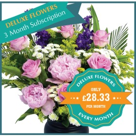 Deluxe Flowers Monthly Flower Gift