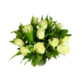 White Roses Bouquet - Post a Rose