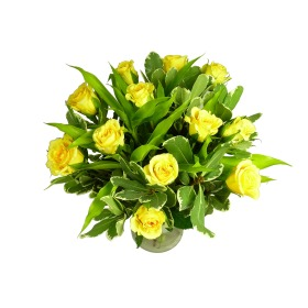 Deluxe Yellow Roses