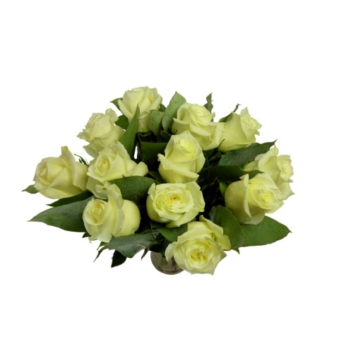 Dozen deluxe white roses 12 rose bouquet free uk delivery post deluxe white roses mightylinksfo