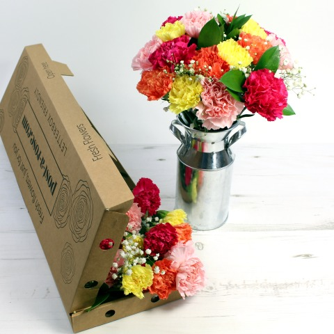 Flowers Letterbox Classic Carnations