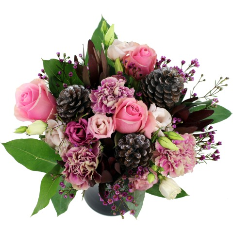 warm winter wishes bouquet free uk delivery for christmas post a rose christmas flowers new year flowers