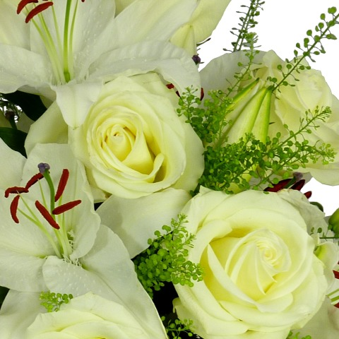 White roses and lilies free uk delivery post a rose flowers white rose lily bouquet white rose lily bouquet mightylinksfo