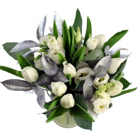 Winter Tulips & Eustoma