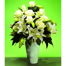 White Rose & Lily Bouquet | Isle of Man